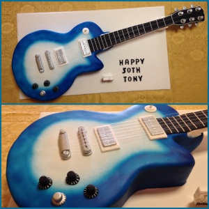 The Gibson Robot Guitar cake