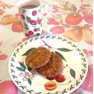 Anzac biscuits with a cup of tea - perfection!